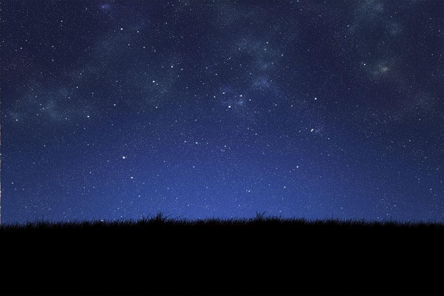 Nighttime sky with stars